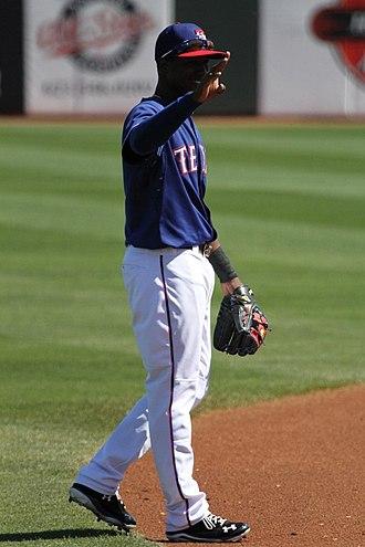 Jurickson Profar - Profar playing for the Texas Rangers in 2013 spring training
