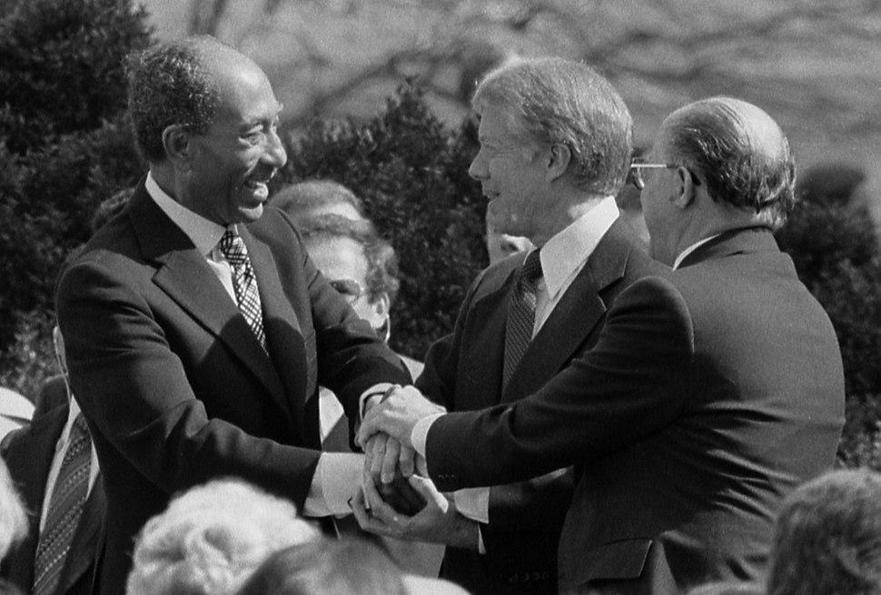 Sadat Carter Begin handshake (cropped) - USNWR