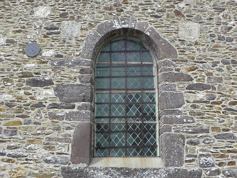 Église Saint-Maugan de Saint-Maugan (35). Chapelle méridionale. Détail de la costale sud.