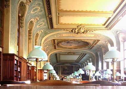 The Salle Saint Jacques Reading Room Of Sorbonne Library 1897