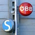 Salzburg-Mülln, Zeichen der S-Bahn und der ÖBB, 1.jpeg