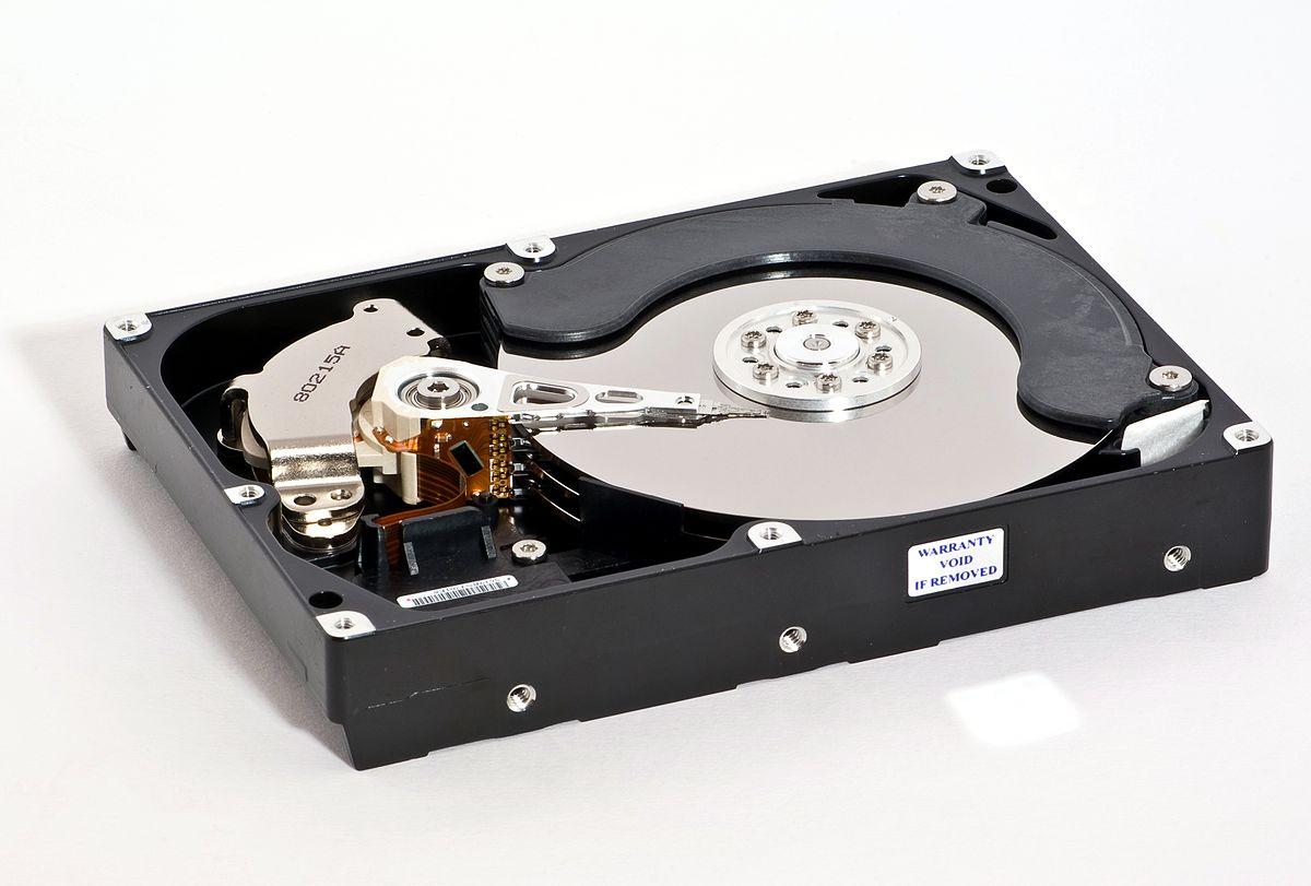 Geöffnete Samsung HD753LJ Festplatte