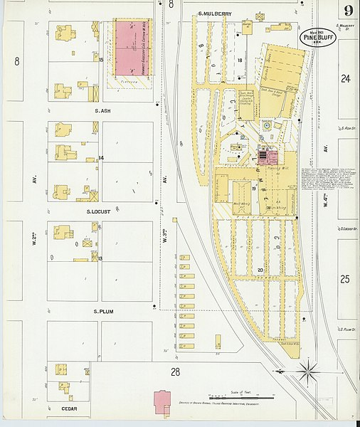 ash plum diagram file sanborn fire insurance map from pine bluff  jefferson county  file sanborn fire insurance map from