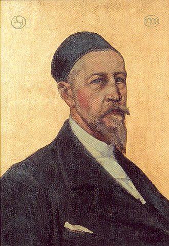 Hans Sandreuter - Self-portrait (1900)