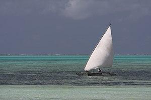Dhow at Zanzibar Français : Boutre à l'île de ...