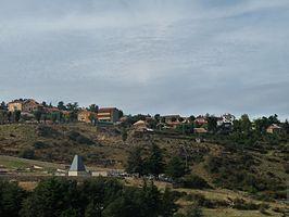 Vista de la localidad capital del municipio
