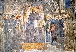 Vallumbrosan Order - St. John Gualbert with other Vallumbrosan saints and beati