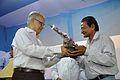 Saroj Ghose Presents Memento to Arun Kumar Paik - Inaugural Function - MSE Golden Jubilee Celebration - Science City - Kolkata 2015-11-17 5034.JPG