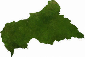 Geography of the Central African Republic - A satellite map of the Central African Republic.