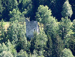 Burg Saxenstein mit Hocheingang