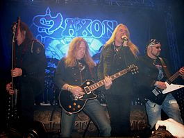 Saxon performing at Leeds O2 Academy 2011.jpg