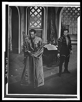 José Ferrer - Paul Robeson (Othello) and Ferrer (Iago) in the 1943 Theatre Guild production of Othello