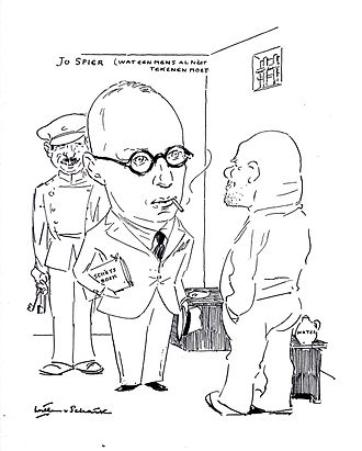 Jo Spier - Jo Spier  (caricature by Willem van Schaik)