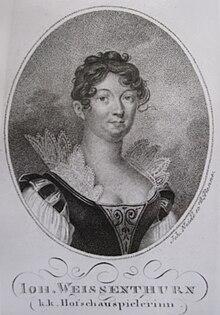 Johanna Franul von Weißenthurn als k.k. Hofschauspielerin (Quelle: Wikimedia)