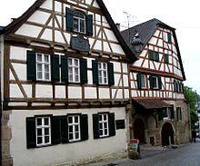 Schillers Geburtshaus in Marbach am Neckar (Quelle: Wikimedia)