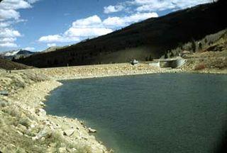 Scofield Reservoir reservoir in the Pleasant Valley in Carbon and Utah counties in Utah, United States