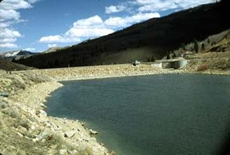 Scofield Reservoir - Scofield Reservoir and dam
