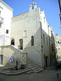 The synagogue Scolanova Trani in Italy.