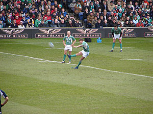 Ronan O'Gara - O'Gara kicking against Scotland during the 2007 Six Nations.