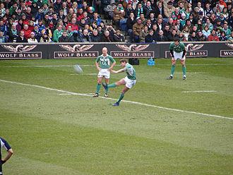Ronan O'Gara - O'Gara kicking against Scotland during the 2007 Six Nations.