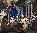 Scuola Grande dei Carmini - Sala dell'Albergo - Allegoria di Venezia nell'abito del doge davanti alla Vergine Maria di Giustino Menescardi.jpg