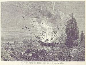 Battle of Portland - An illustration of the battle