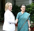 Secretary Clinton Is Greeted By All India's Congress Party President Gandhi.jpg