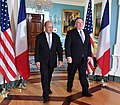Secretary Pompeo meets with French Foreign Minister Jean-Yves Le Drian (44189143215).jpg