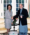 Secretary Rice with President Hamid Karzai of Afghanistan.jpg