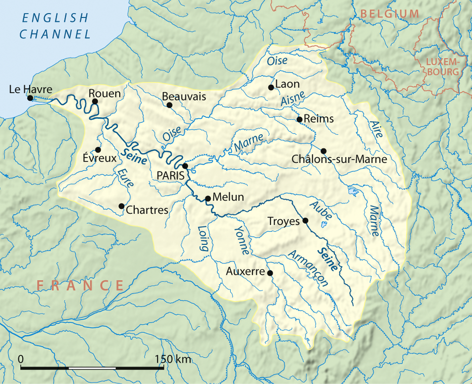 Seine drainage basin