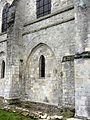 Senlis (60), abbatiale Saint-Vincent, nef, 1ère travée nord, vestiges du bas-côté.JPG