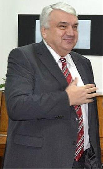 Prime Minister of Moldova - Image: Serafim Urechean (crop 12631652493)