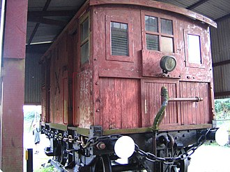 São Paulo Railway Company - Brake van, which was used to attach the standard railway wagons to the cable of the Serra Velha incline system between Piassaguera and Paranapiacaba