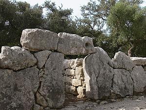 Talaiot - Main entrance to Ses Païsses talaiotic settlement, Majorca