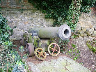 Siege of Sevastopol (1854–55) - Evesham cannon, at the Almonry museum c2009