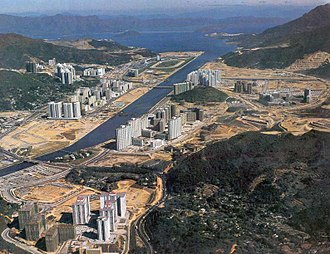Land reclamation in Hong Kong - Image: Sha Tin Shing Mun River Early Stage Of Development