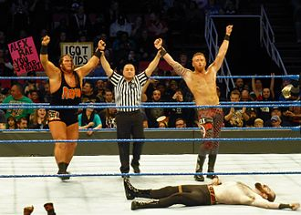 WWE SmackDown Tag Team Championship - The inaugural SmackDown Tag Team Champions Rhyno (left) and Heath Slater (right)
