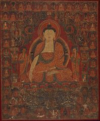 Shakyamuni with the Thirty-Five Buddhas of the Confession of Sins and the Eighteen Arhats