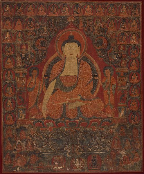File:Shakyamuni with the Thirty-Five Buddhas of the Confession of Sins and the Eighteen Arhats LACMA M.84.227.6.jpg