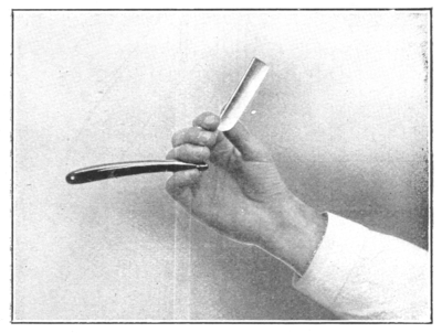 Shaving Made Easy, 1905 - Holding the razor.png