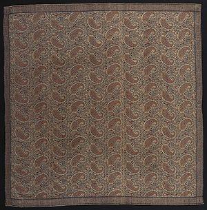 Paisley shawls - Square Paisley shawl of ca 1830