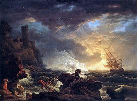 Shipwreck , by Claude Joseph Vernet.