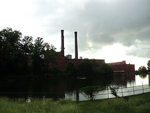 Danville, Virginia - Abandoned Dan River Mills on the Dan River