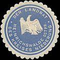 Siegelmarke Der Landrat des Kreises Niederung Heinrichswalde Ostpreußen W0352128.jpg