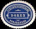 Siegelmarke Gemeindevorstehung Doren - Vorarlberg W0261573.jpg
