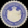Siegelmarke Gr. Mecklb. Strelitz. Ministerium Abt. v. Domänen, Forsten u. Bauten W0391428.jpg