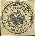 Siegelmarke K.K. Bezirkshauptmannschaft Leitomischl W0358487.jpg