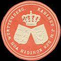 Siegelmarke Kabinet I.M. der Königin von Württemberg W0350298.jpg
