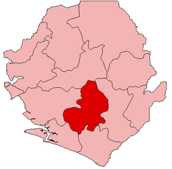 Location of Bo District