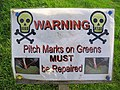 Sign at Langholm Golf Course - geograph.org.uk - 603798.jpg